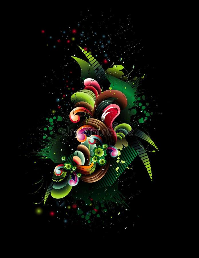 抽象彩色插图 向量例证