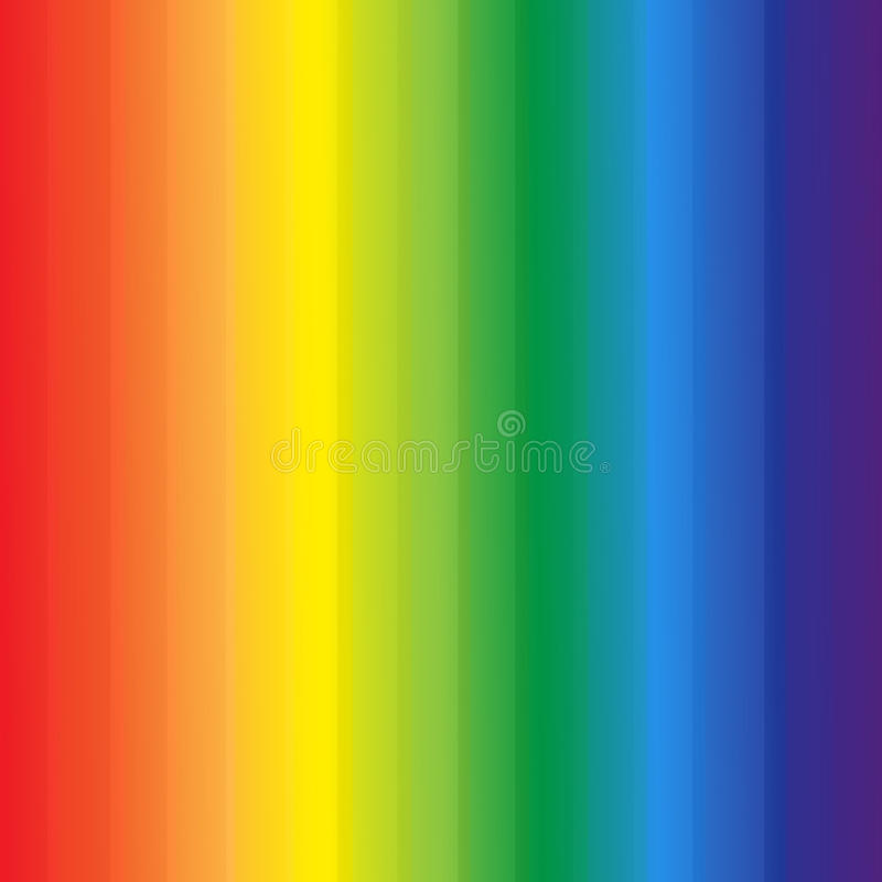 抽象彩虹上色条纹背景 库存例证