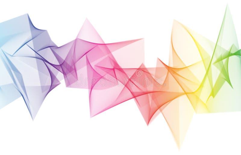 抽象彩虹尖波 向量例证