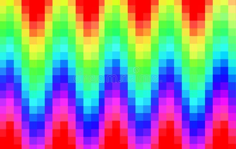 抽象彩虹映象点长方形背景,多色马赛克,正方形,明亮,蓝色,红色,绿色,黄色 向量例证
