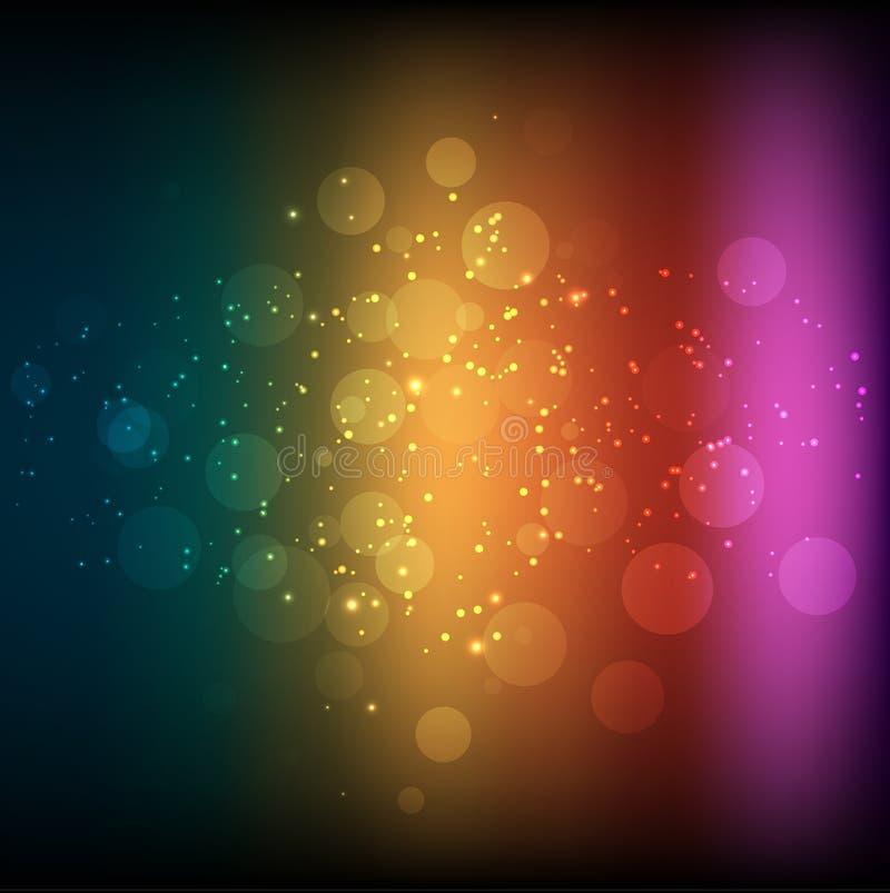 抽象彩虹背景 皇族释放例证