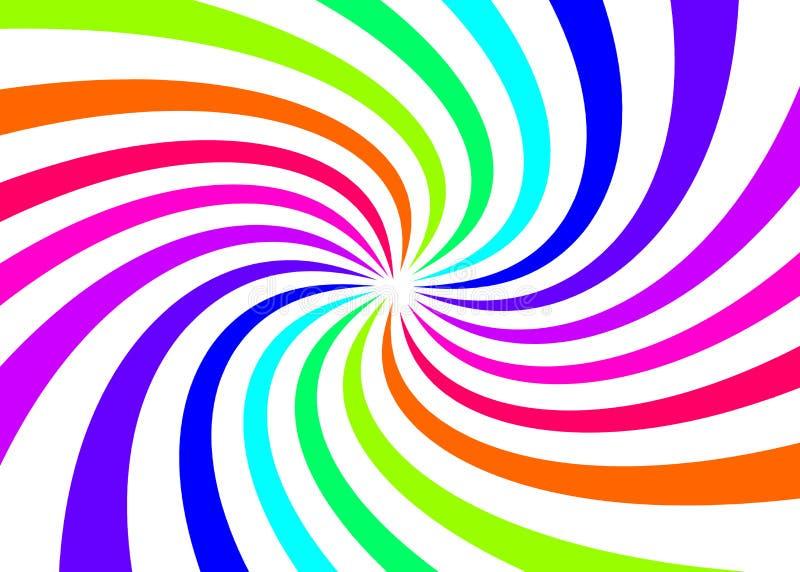 抽象彩虹转弯颜色有您的模板和网络设计的白色背景 向量例证