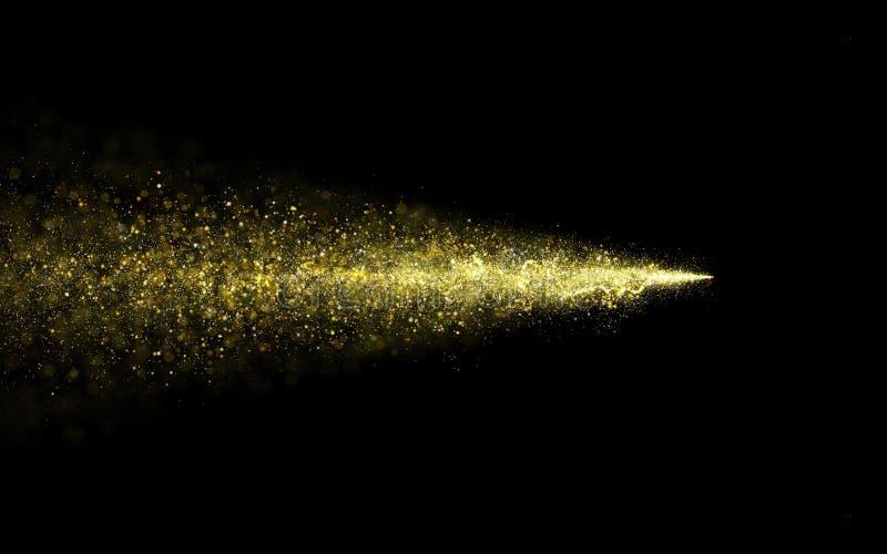 抽象微粒金闪烁的星团足迹  免版税图库摄影