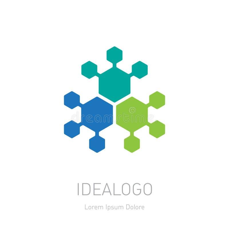 抽象徽标 传染媒介略写法、设计元素或者象 皇族释放例证