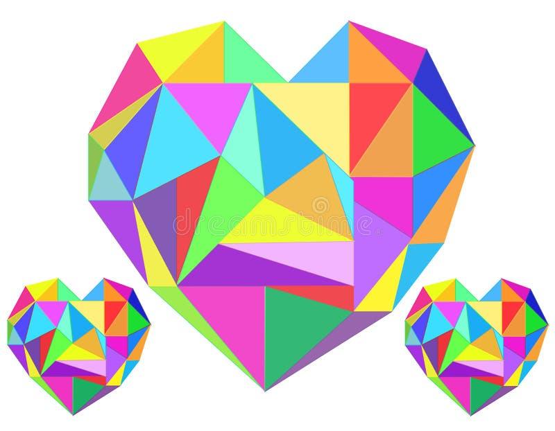 抽象心脏几何背景 皇族释放例证