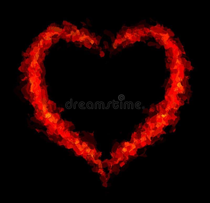 抽象心脏框架 库存图片