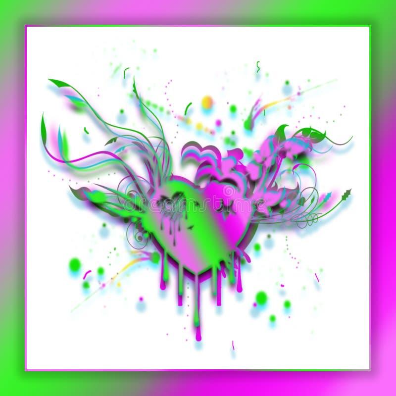 抽象心脏,如果明亮的梯度颜色 困厄的心脏概念 向量例证