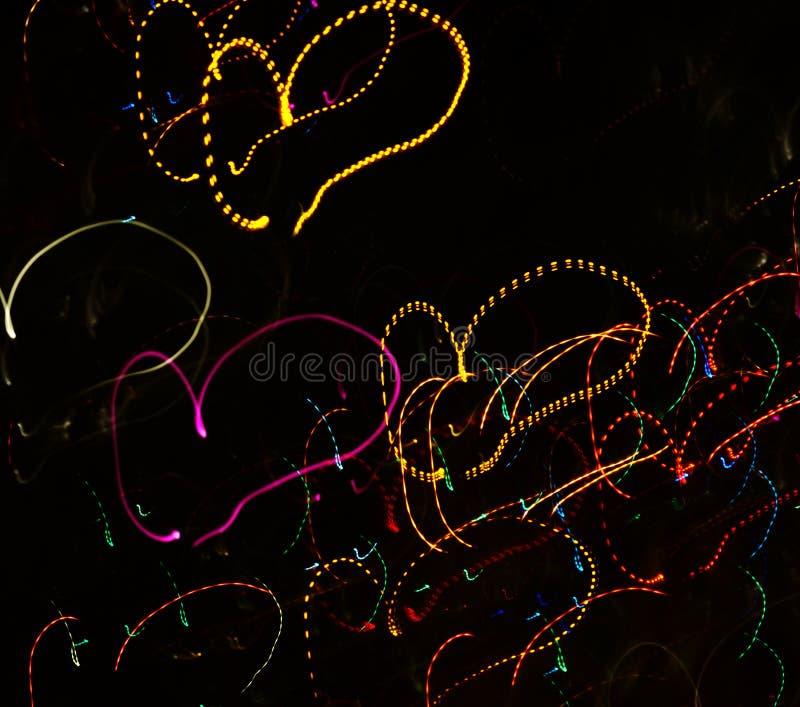 抽象情人节发光的背景 免版税库存照片