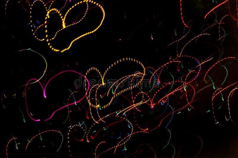 抽象情人节发光的背景 库存照片