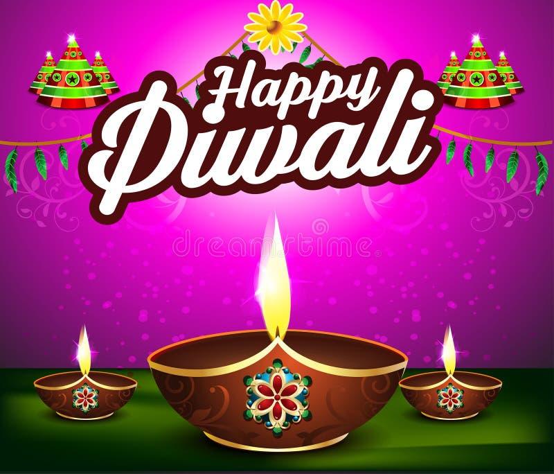 抽象愉快的diwali背景用薄脆饼干 向量例证