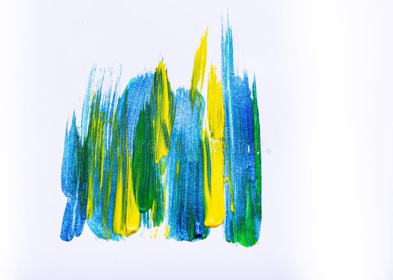 抽象手拉的丙烯酸酯的绘画创造性的艺术背景 克洛 免版税库存图片