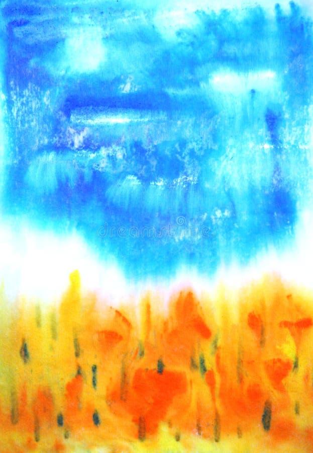 抽象手拉的油漆背景 库存图片