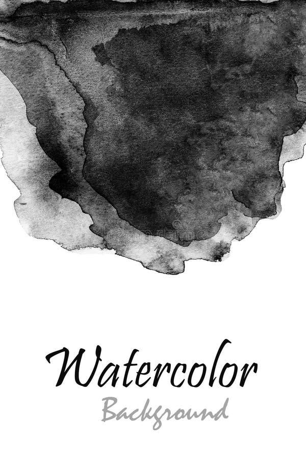 抽象手拉的水彩背景,光栅例证我 库存例证