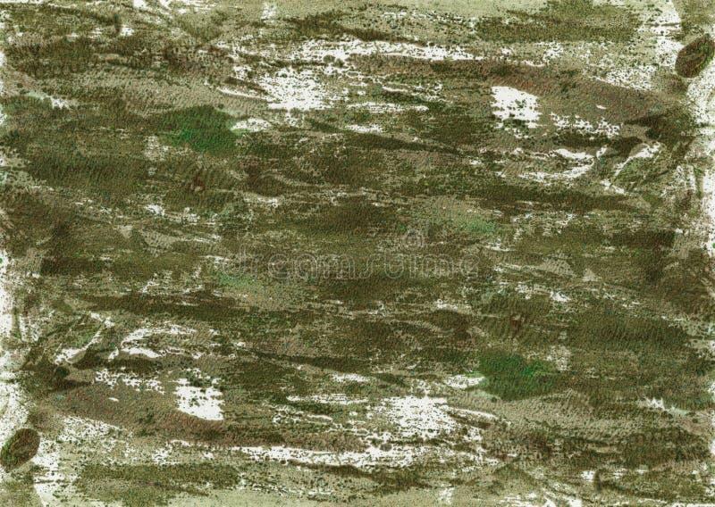 抽象手画水彩背景 设计的装饰混乱五颜六色的纹理 在纸的手拉的图片 手工制造 库存例证