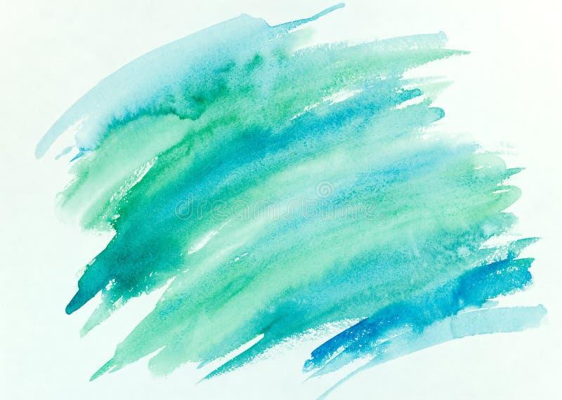 抽象手画五颜六色的镶边水彩背景 库存图片