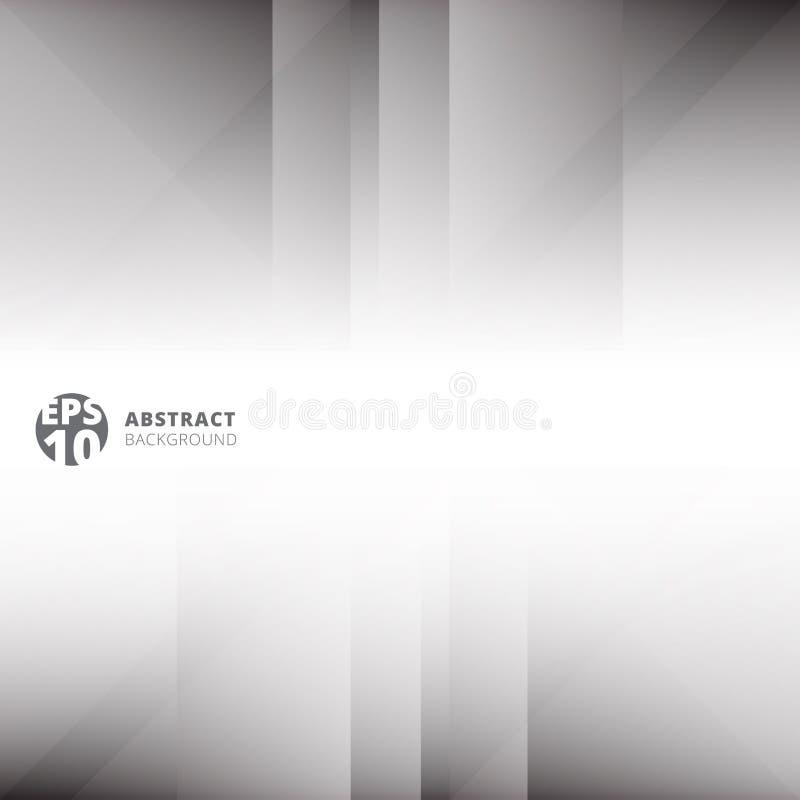 抽象技术几何交叠浅灰色和白色backg 皇族释放例证