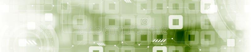抽象技术工业几何网横幅 皇族释放例证