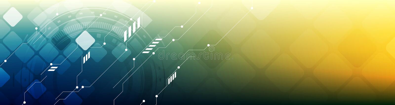 抽象技术概念明亮的网倒栽跳水横幅 库存例证