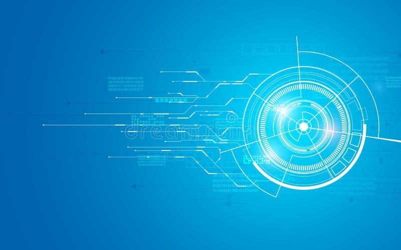 抽象技术电信创新概念背景平展未来派设计 向量例证