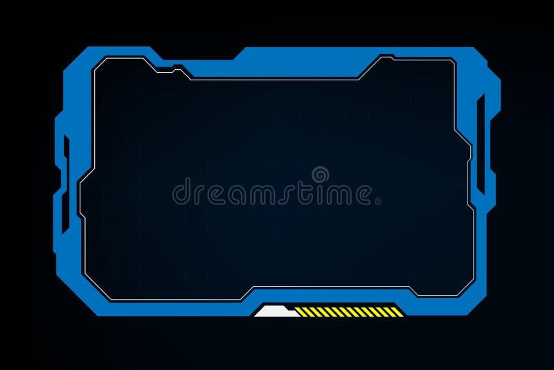 抽象技术科学幻想小说全息图框架模板设计背景 库存例证