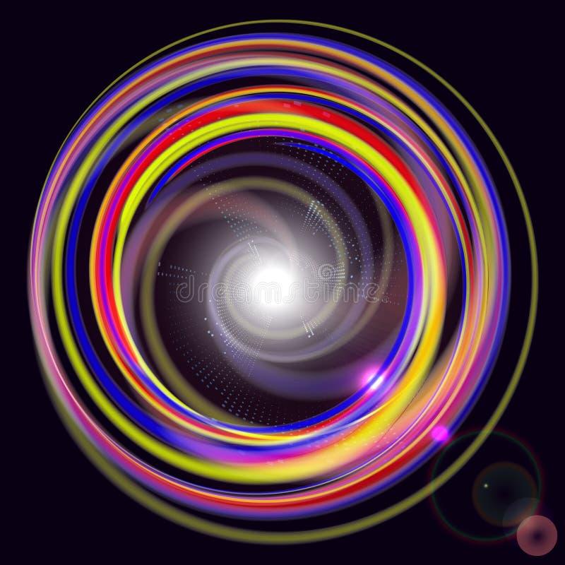 抽象技术背景上色了抽象圆形 Co 皇族释放例证