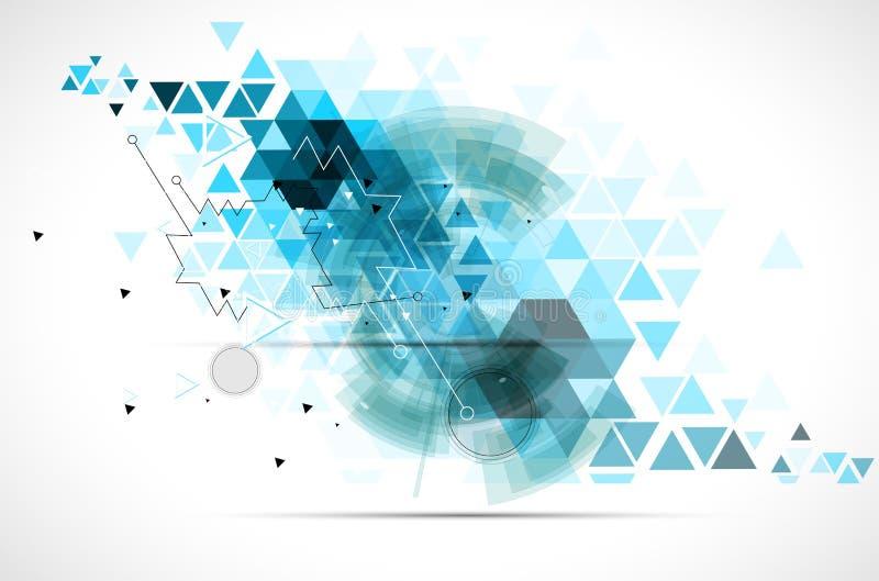 抽象技术背景事务&发展方向 向量例证