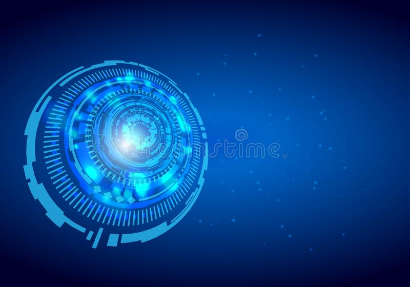 抽象技术背景高科技通信概念未来派数字式创新背景传染媒介例证 向量例证