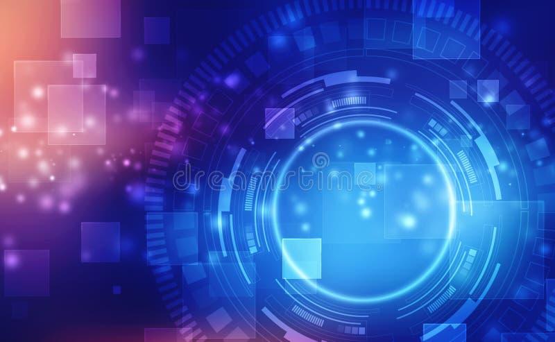 抽象技术背景高科技通信概念,未来派数字创新背景 库存例证