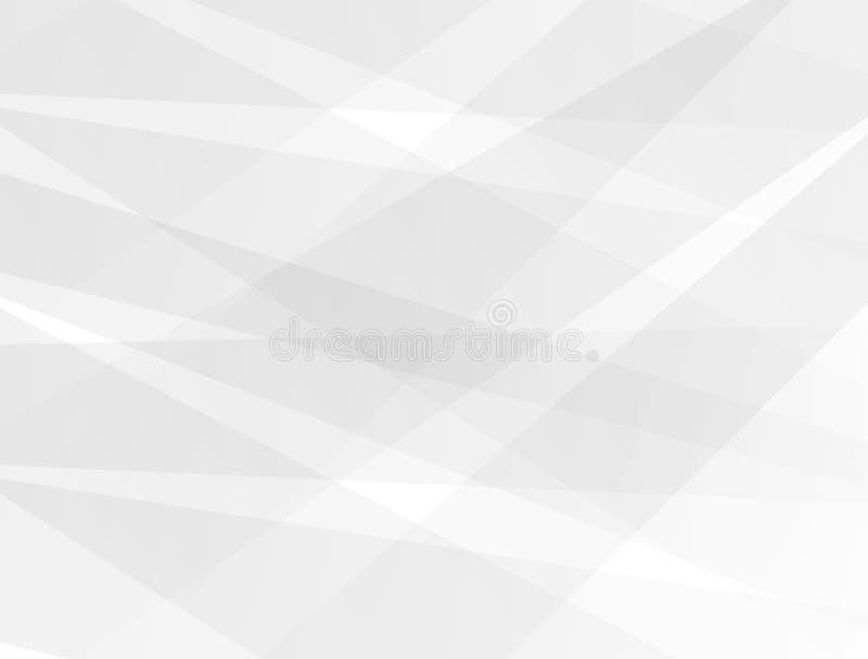 抽象技术背景,白色和灰色现代设计背景传染媒介 向量例证