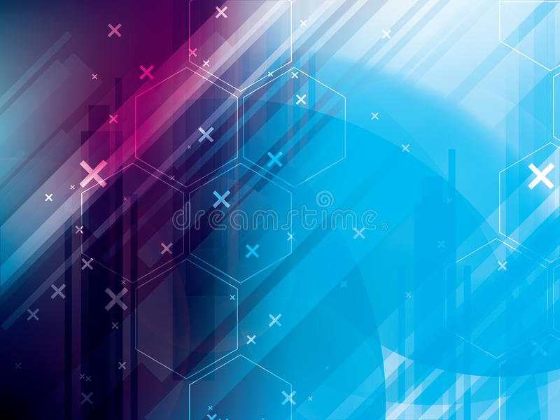 抽象技术背景vetor数字通信 皇族释放例证