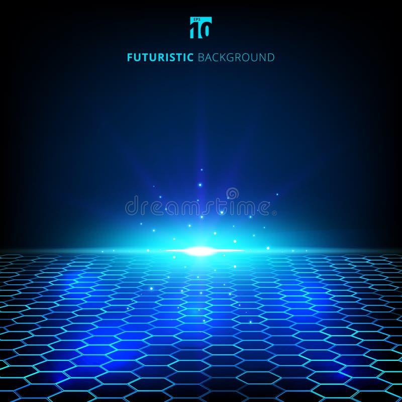 抽象技术蓝色导线网络未来派wireframe数据 向量例证