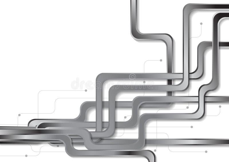 抽象技术金属线路板背景 皇族释放例证