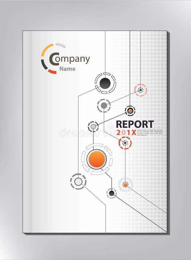 抽象技术年终报告盖子设计 向量例证