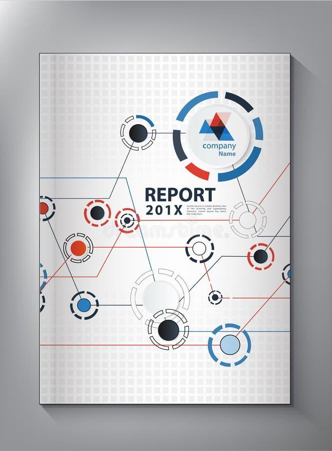 抽象技术年终报告盖子设计 皇族释放例证