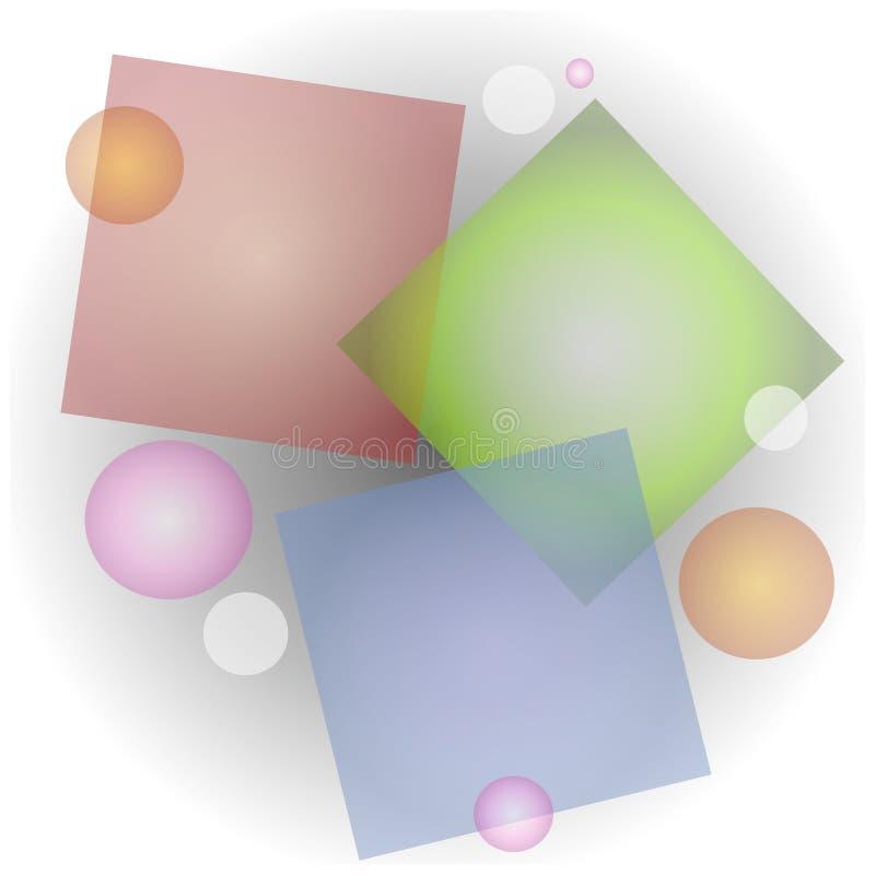 抽象拼贴画不透明的形状 向量例证