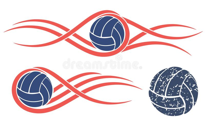 抽象排球 向量例证