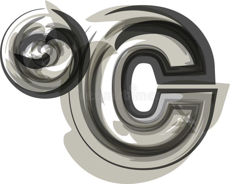 抽象摄氏标志 向量例证