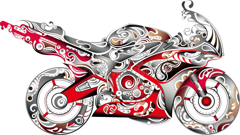 抽象摩托车 向量例证