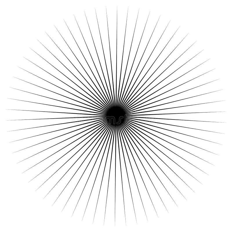 抽象放热尖刻的元素 辐形形状 向量例证