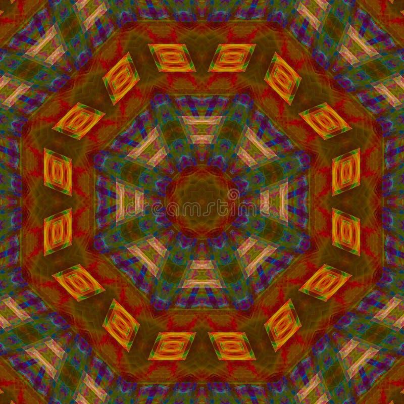 抽象数字万花筒样式作用坛场装饰样式,设计能量 向量例证