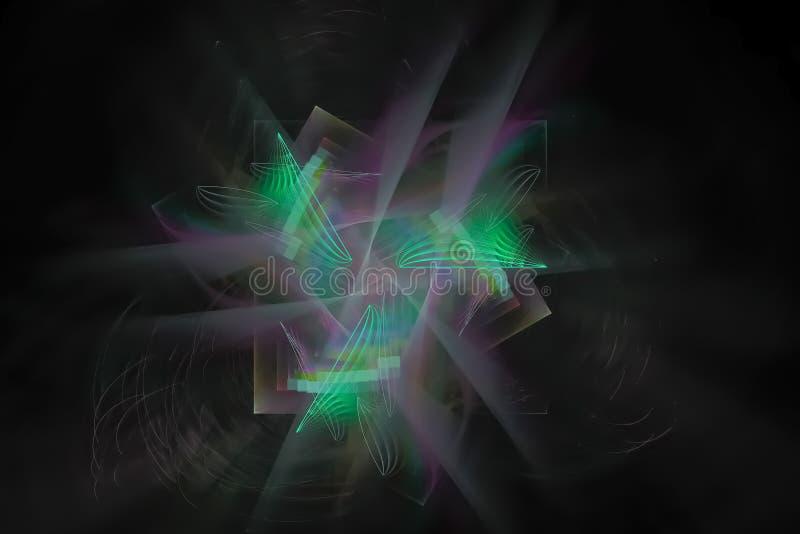 抽象数字分数维五颜六色的当前烟花发光的混乱背景飞溅力量幻想爆炸设计飞溅,闪闪发光 皇族释放例证