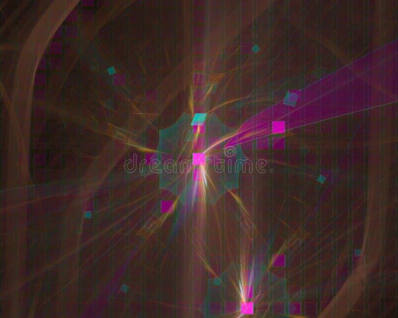 抽象数字分数维幻想设计背景动力学 皇族释放例证