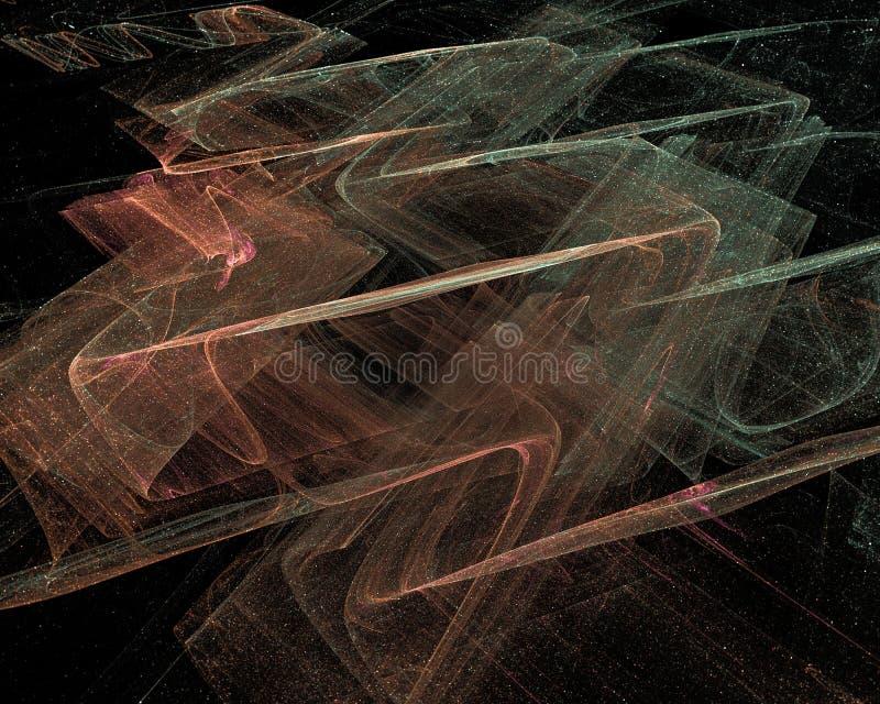 抽象数字分数维科学意想不到的未来派幻想设计背景动力学 向量例证
