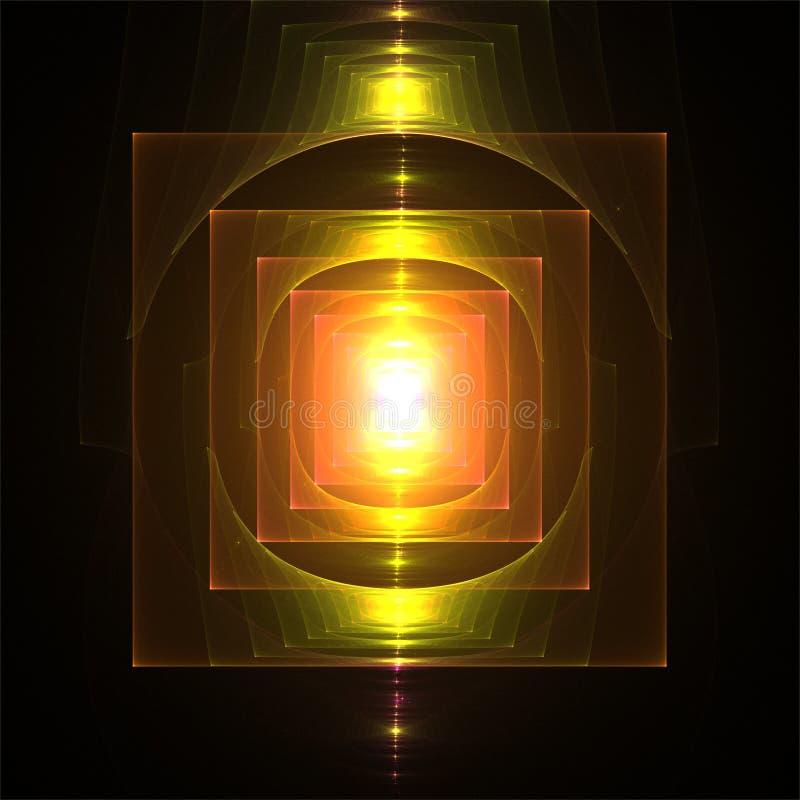 抽象数字分数维艺术装饰灯笼浪漫分数维 库存例证