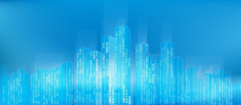 抽象数字式城市 库存例证