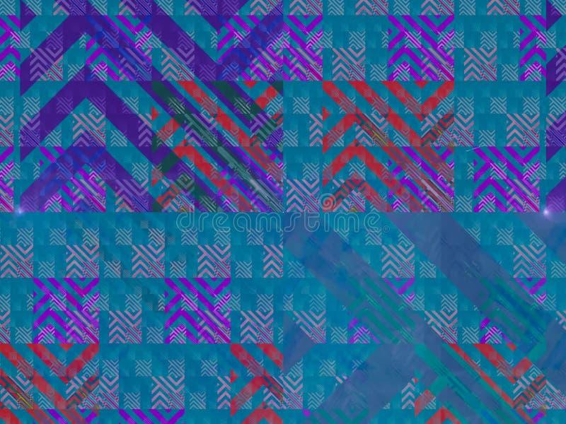 抽象数字式小河噪声转动深度飘渺装饰梦想幻想装饰品,作用形状显示 库存例证