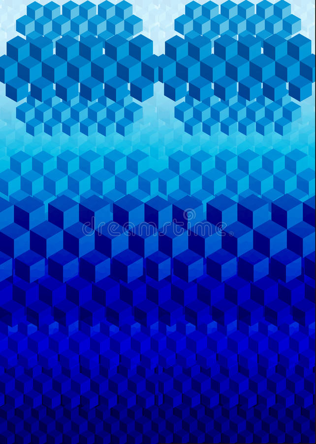抽象数字式立方体 库存例证