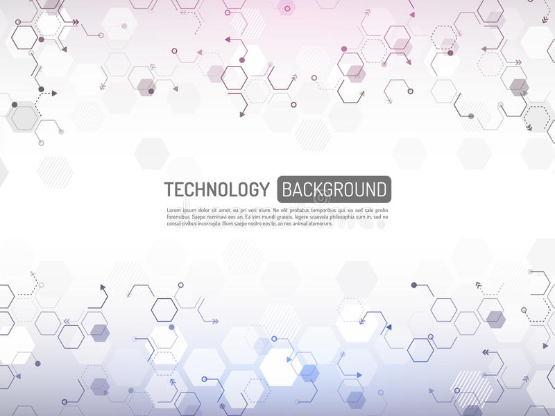 抽象数字技术概念 高科技计算机innovati 向量例证