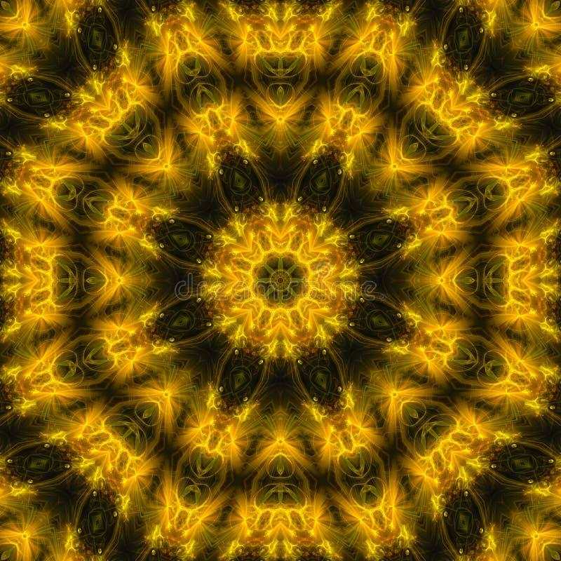 抽象数字样式墙纸对称创造性的纹理万花筒,坛场时尚,魔术,油漆 向量例证