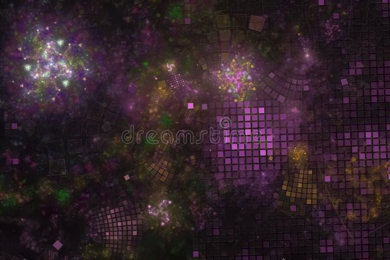 抽象数字美好纹理形状图表科学宇宙动态爆炸火焰的力量 免版税库存图片